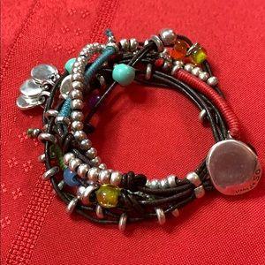 Uno de 50 Beaded Stranded Bracelet 🌹 Preowned